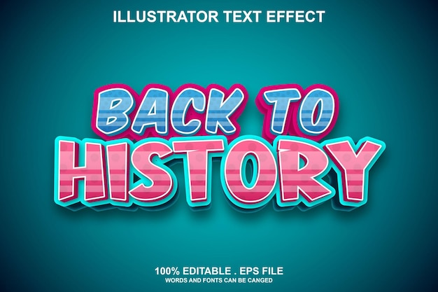 Retour à l'historique effet de texte modifiable