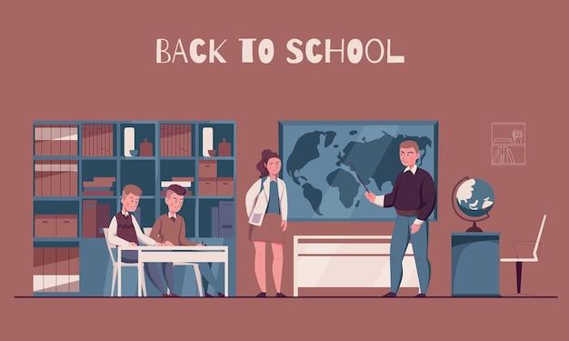 Retour à l & # 39; illustration de l & # 39; école