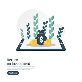 Retour sur investissement concept retour sur investissement