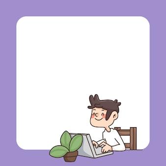 Retour à lécole bloc-notes illustration de dessin animé mignon