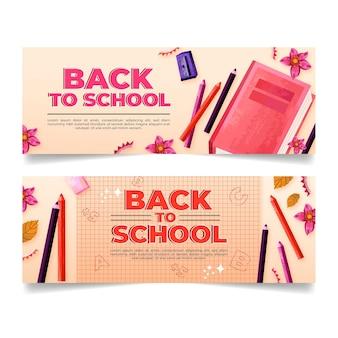 Retour à la main au modèle de bannières scolaires