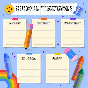 Retour à la main au modèle de calendrier scolaire