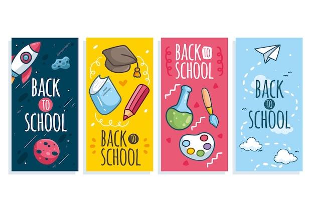 Retour à la main aux histoires instagram de l'école