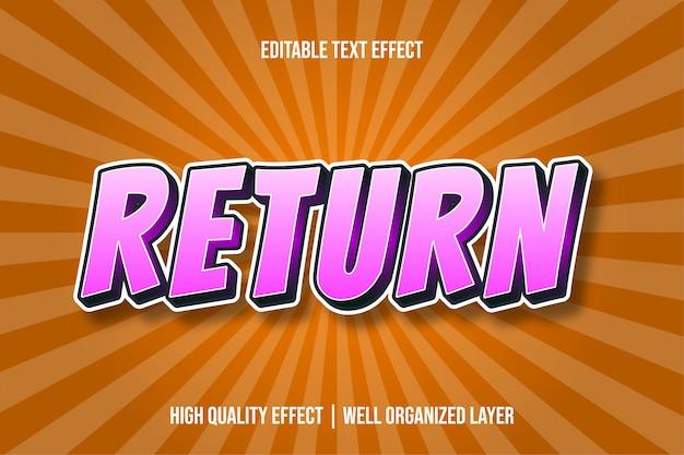 Retourner l'effet de texte de style bande dessinée pinky s