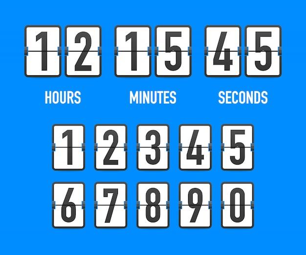 Retournez le compte à rebours de l'horloge.