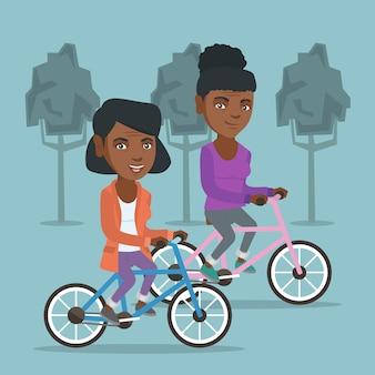 Retraites africaines à vélo dans le parc.