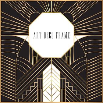 Retro art déco frame design