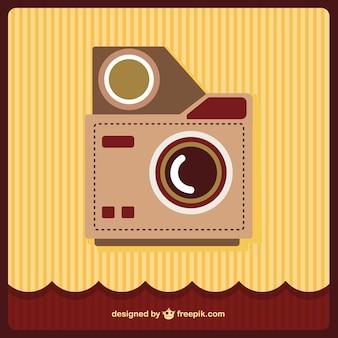 Rétro art de vecteur de la caméra