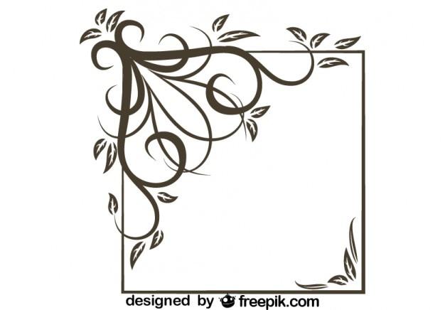 Rétro asymétrique tourbillon carré design élégant