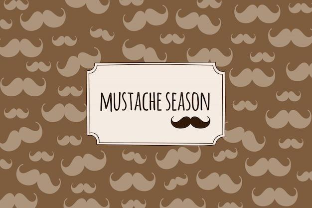 Retro background avec des silhouettes moustache