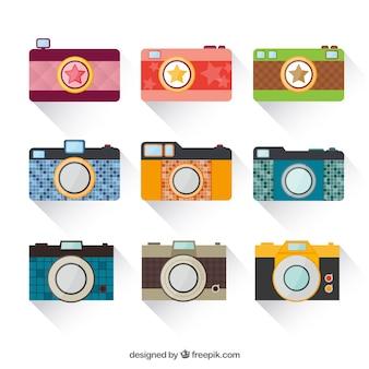 Rétro caméras colorées