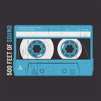 Rétro avec une cassette.