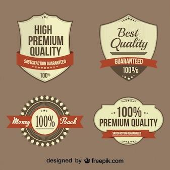 Rétro collection de badges d'affaires