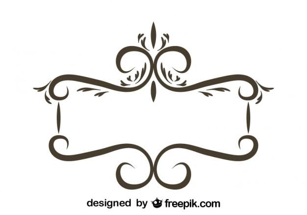 Rétro conception florale cadre stilish
