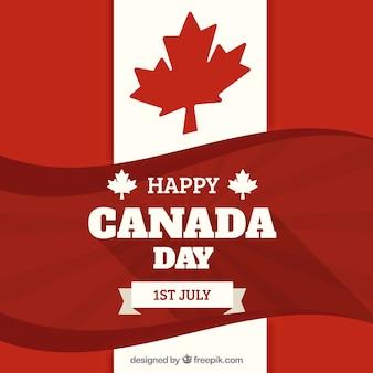 Rétro fond du jour du canada avec le drapeau