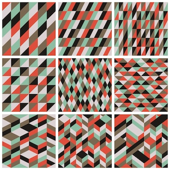 Rétro funky seamless patterns vector set