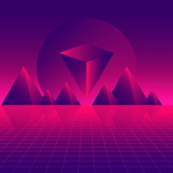 Retro futuristic background