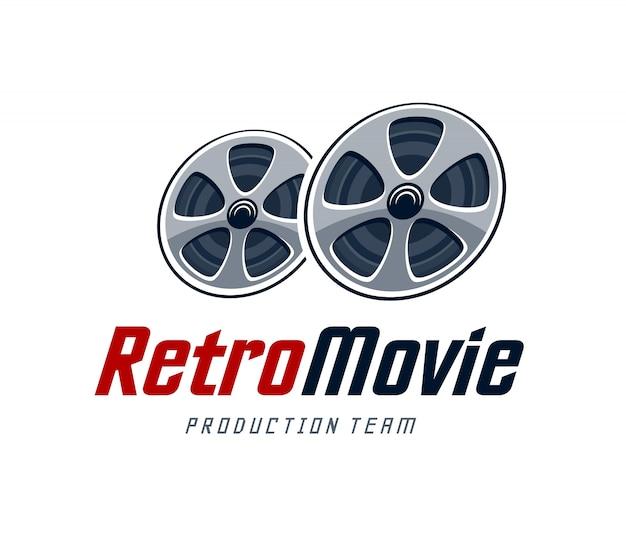 Retro movie logo