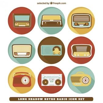Retro radio étiquettes