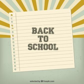Retro retour au fond de l'école