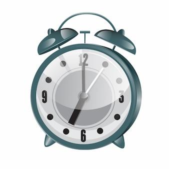 Rétro réveil. horloge vintage métallique. illustration vectorielle