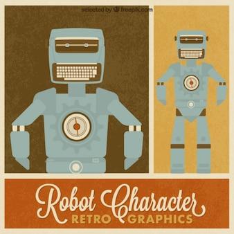 Retro robot caractère