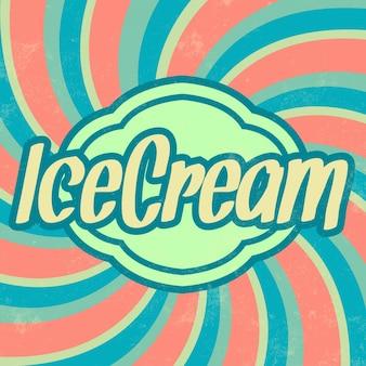 Rétro sceau de crème glacée
