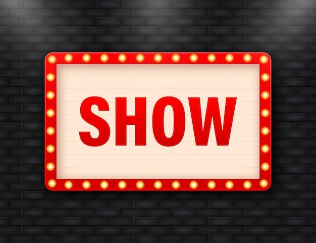 Rétro show lightbox