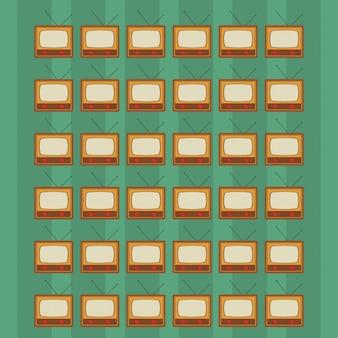 Retro tv pattern backgroundimage
