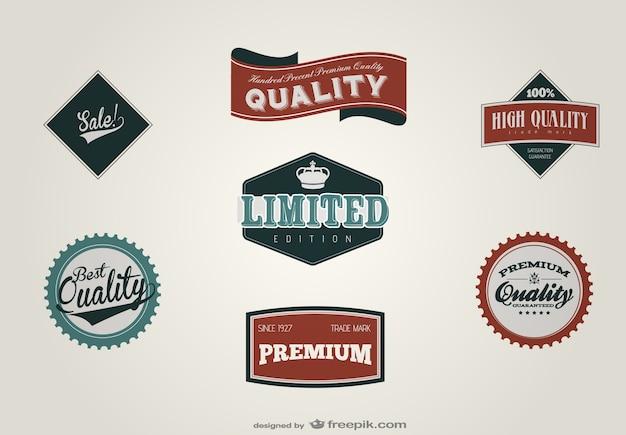 Rétro vecteur matériel de conception d'étiquettes