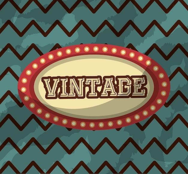 Rétro vintage billboard lights arrière-plan classique