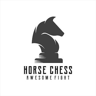 Rétro vintage de silhouette de logo de cheval