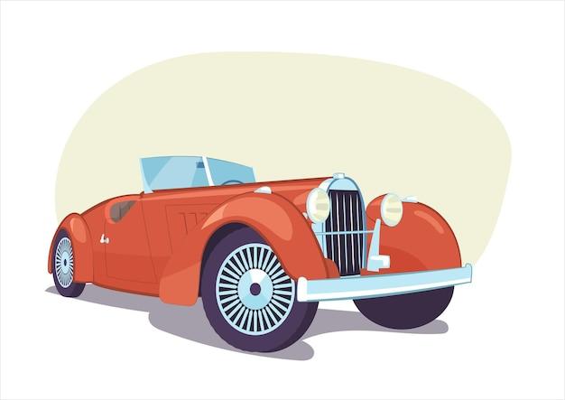 Rétro voiture décapotable vintage isolé