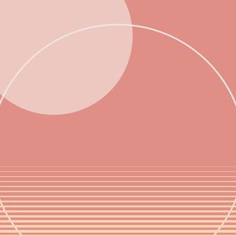 Retrofuturism fond rose pastel vecteur style graphique suisse
