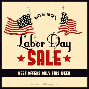 Rétrospective des ventes du jour du travail avec les drapeaux américains