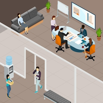 Réunion d'affaires au bureau