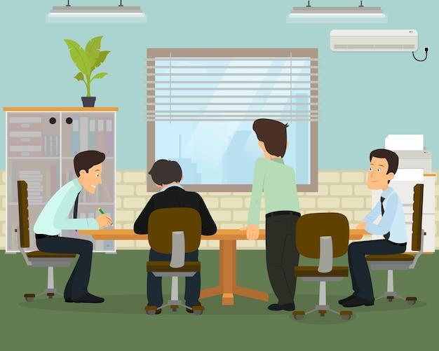 Réunion d'affaires dans un bureau