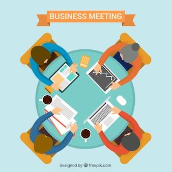 Réunion d'affaires avec table ronde