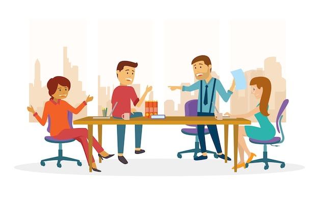 Une réunion d'équipe pour une discussion au bureau