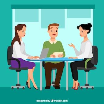 Réunion de fond avec des femmes d'affaires