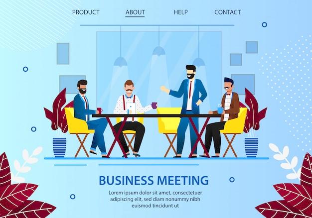 Réunion de gens d'affaires à la pause café au bureau.