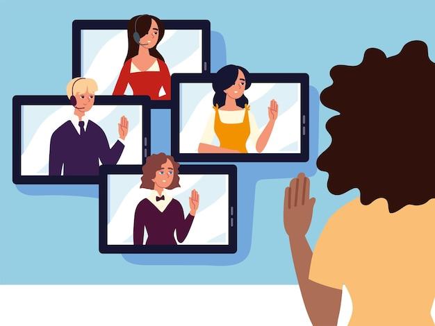 Réunion virtuelle avec des appareils