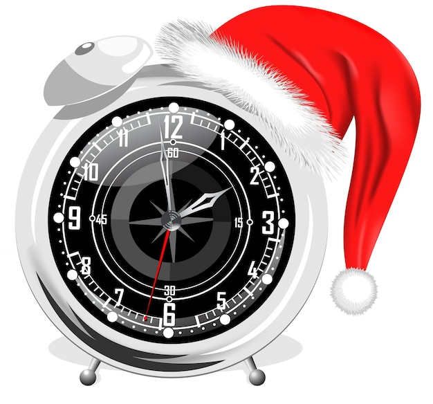 Réveil horloge mécanique dans un style rétro