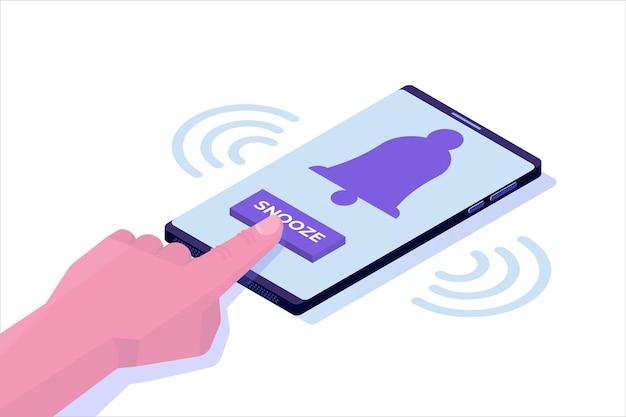 Réveil de téléphone intelligent avec bouton de répétition