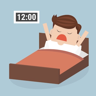 Réveille-toi en retard.