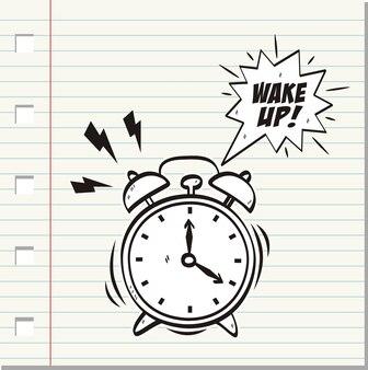 Réveillez-vous, inscription au réveil.