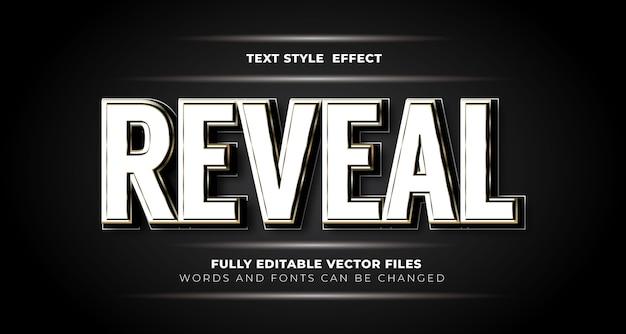 Révéler le style d'effet de texte modifiable