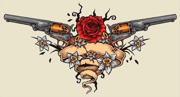Revolver tatouage