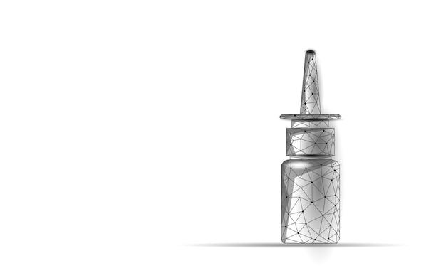 Rhinite nez low poly. traitement médecine nasale coryza