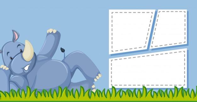 Rhino avec cadre de modèle